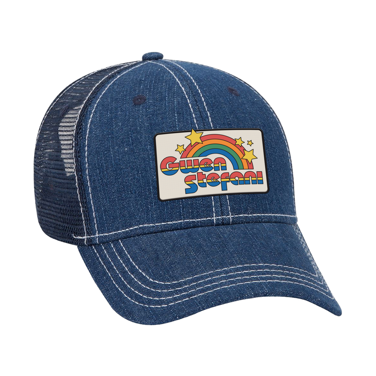 Rainbow Patch Hat - Denim - Gwen Stefani