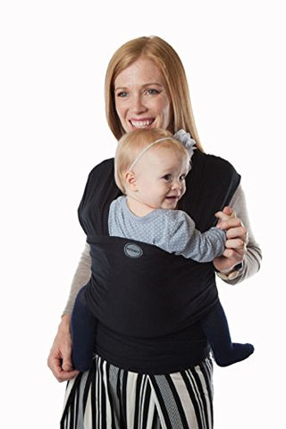 Moby Wrap Evolution Baby Wrap: Soft Baby Carrier, Baby Sling Carrier, Made from Breathable Bamboo Fibers - Soft, Safe, Comfortable - Suitable for Newborns - Black