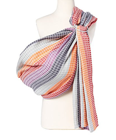 Hip Baby Wrap Ring Sling Baby Carrier for Infants and Toddlers (Rainbow Honeycomb)