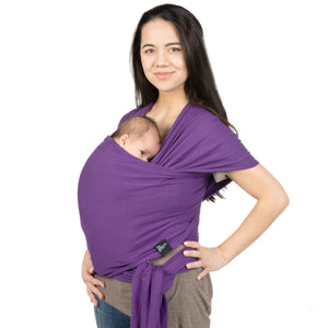 Newborn & Infant Baby Wrap Carrier: Swaddle Holder Sling for Babies