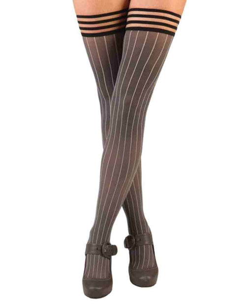 Kixies Annabelle Pinstripe Thigh High