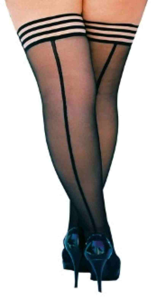 Kixies Lois Back Seam Thigh Highs