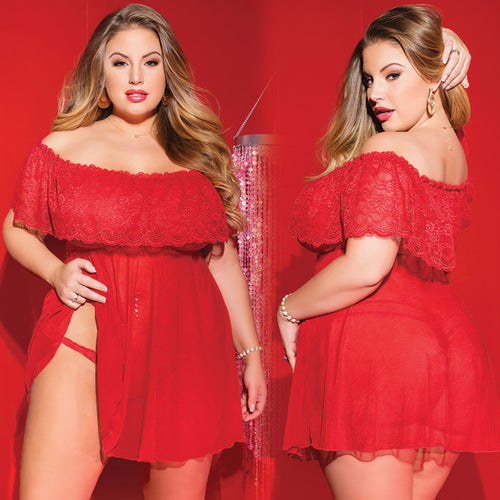 Holly Off the Shoulder Babydoll