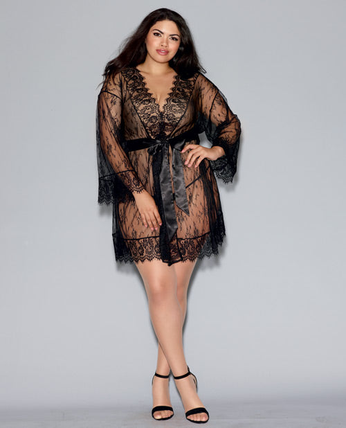 Whitney Long Sleeve Lace Robe