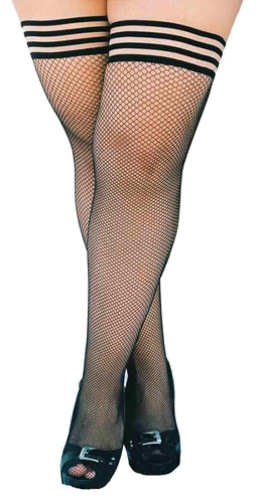 Kixies Sam Fishnet Thigh Highs