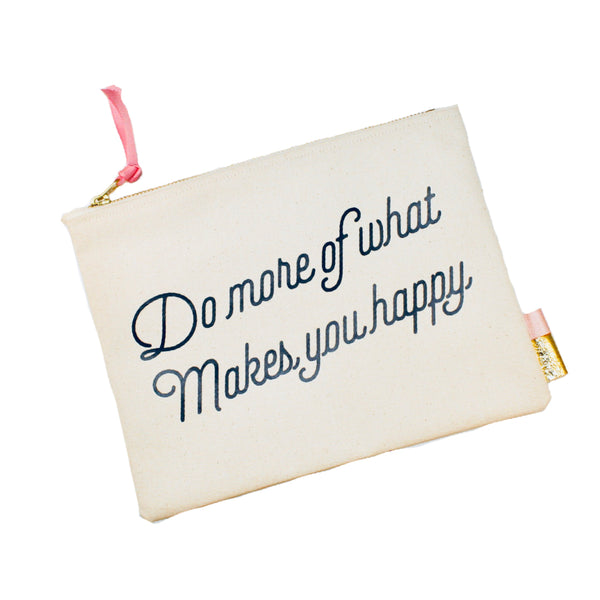 "Pipi Cucu X Lifetique ""Do More Of What Makes You Happy"" Canvas Clutch - Lifetique"