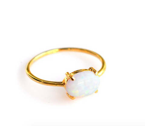 Opal Solo Claw Ring - Lifetique