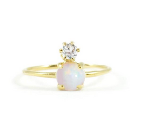 Double Dose Opal + Diamond Ring - Lifetique