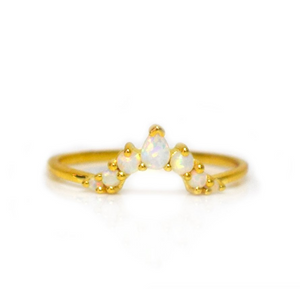 Opal Angels Arc Ring