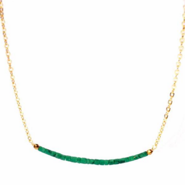 Green Turquoise Smile Necklace - Lifetique