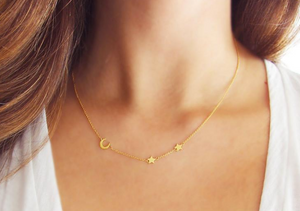 Moon & Star Necklace - Lifetique