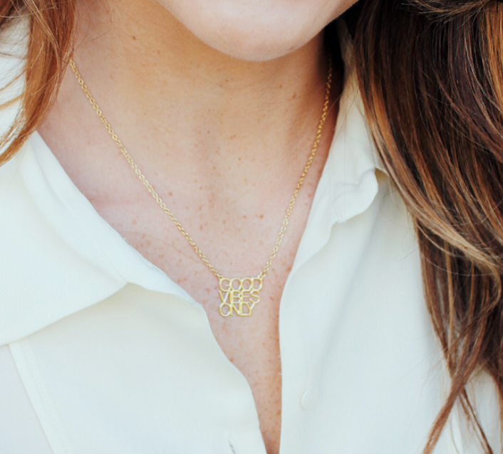Good Vibes Only Necklace - Lifetique