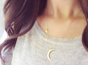 Dangling Moon & Star Necklace - Lifetique