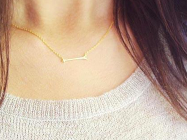 Mini Gold Arrow Necklace
