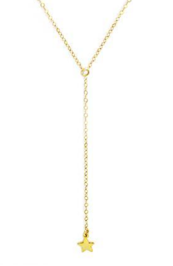 Single Star Lariat Necklace