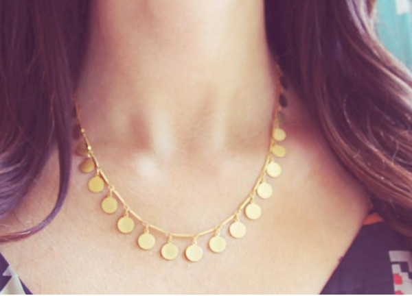 Gold Confetti Necklace - Lifetique