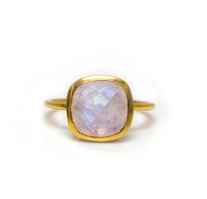 Rainbow Moonstone Eclipse Ring - Lifetique