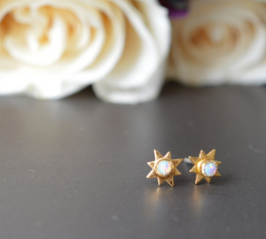 Opal Starburst Studs - Lifetique
