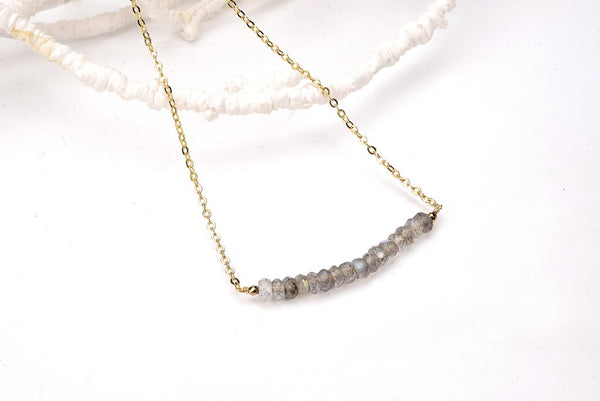 Labradorite Smile Necklace - Lifetique