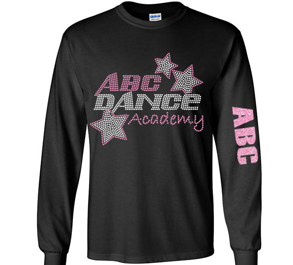 ABC Long SLeeve Rhinestone Shirt