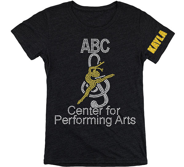 ABC Center for Performing Arts Short Sleeve Rhinestone Shirt