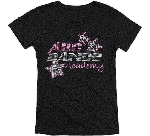 ABC Short Sleeve Rhinestone Shirt