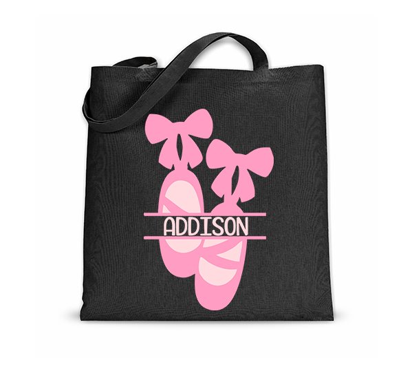 Dance Monogrammed Tote Bag