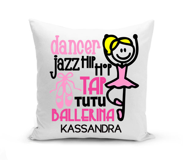 Ballet Dancer Subway Art Pillow