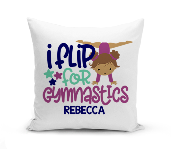 I Flip for Gymnastics Pillow
