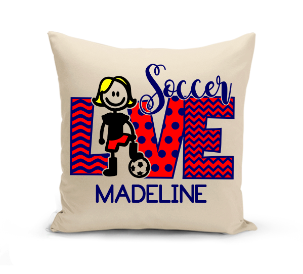 Love Soccer Pillow