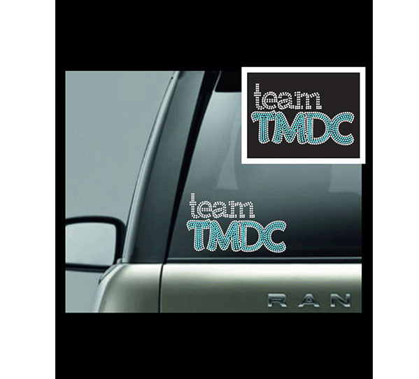 TMDC Rhinestone Car Decal