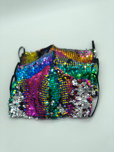 MULTI COLOR SEQUIN FACE MASK