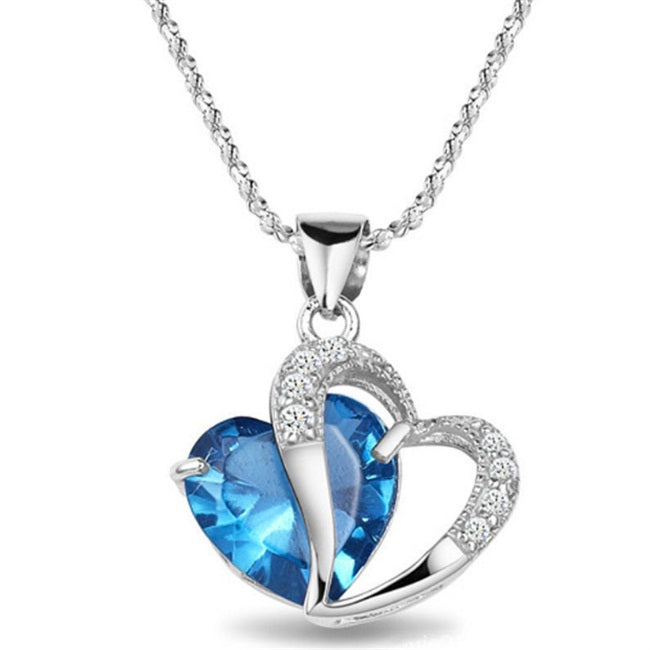 Limited Edition Crystal Heart Pendant Necklace In A Choice Of 7