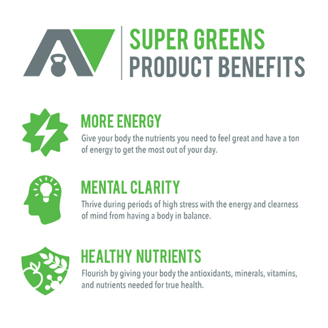 Super Greens: Energizing Formula That Heals And Revitalizes Your Mind & Body.