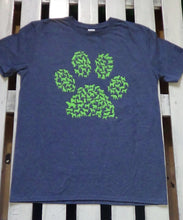 Dog Paw Tee Shirt with each portion of the paw is made of little dogs of all breeds and types.