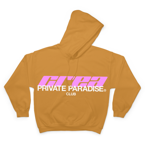 PRIVATE PARADISE CLUB GOLD HOODIE