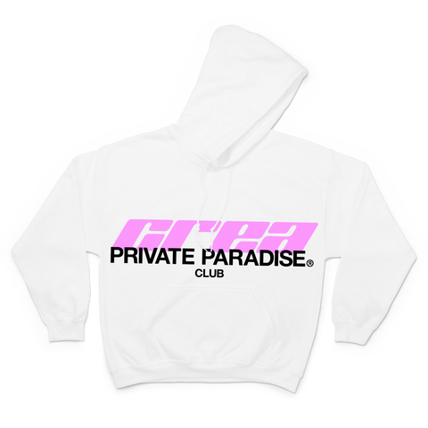PRIVATE PARADISE CLUB WHITE HOODIE