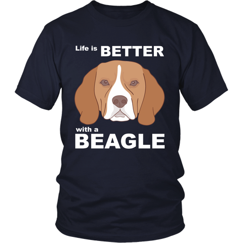 T-Shirt for Beagle Dogs Lover - Life is Better with a Beagle