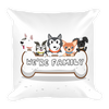 Image of Square Pillow - LIFE IS BETTER WITH DOGS - AMAZING PILLOW for DOGs LoVEr