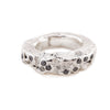 Terrain ring set with grey diamonds