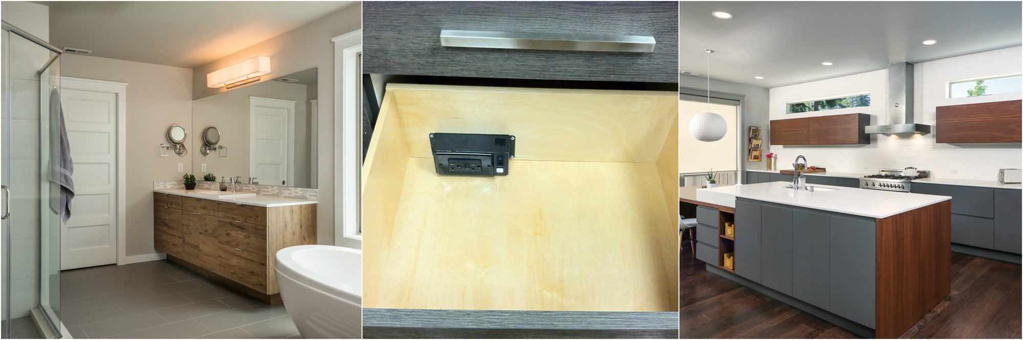 Cabinet Companies Now Offer Pre-Specified Docking Drawer Outlets