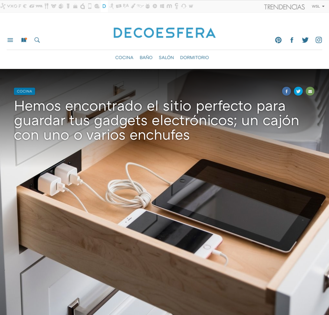 Docking Drawer continues to expand our reach, Hello Madrid and thank you Decoesfera!