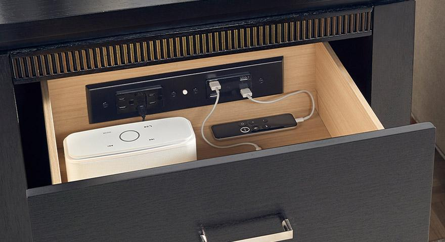 NEW - International Series Outlets by Docking Drawer