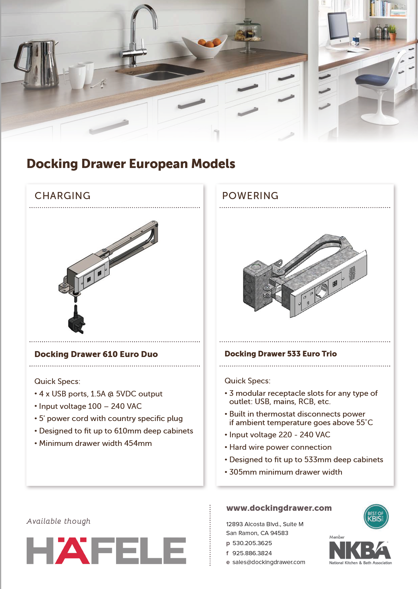 New European Outlets Are Coming to Docking Drawer