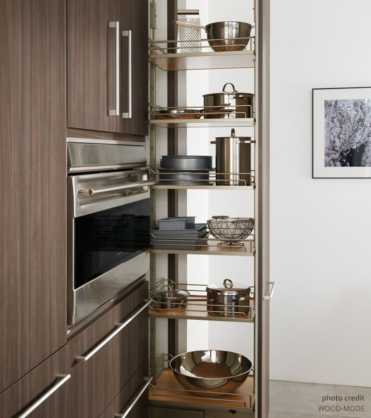 Maximize Kitchen Space With Outlets In Your Pull Out Pantry Docking Drawer