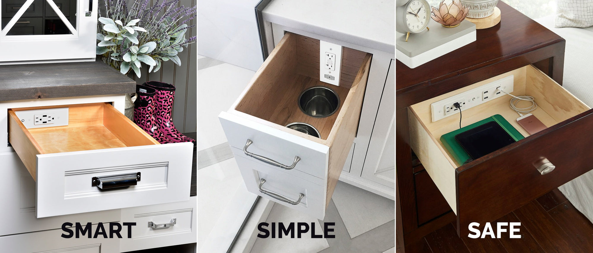 Docking Drawer: Smart. Simple. Safe In-Drawer Outlets.