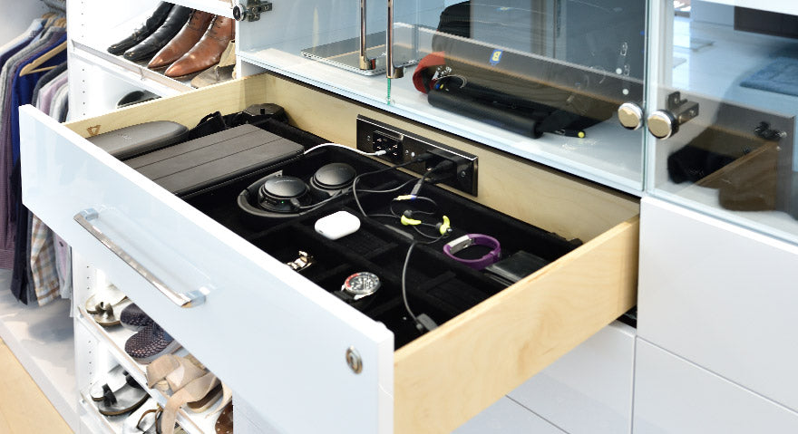 Docking Drawer Blade Duo Closet Installation
