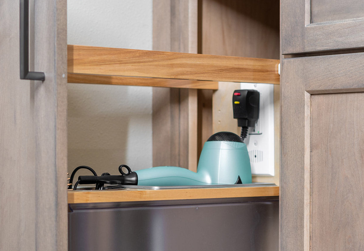 pull out drawer for hair dryer