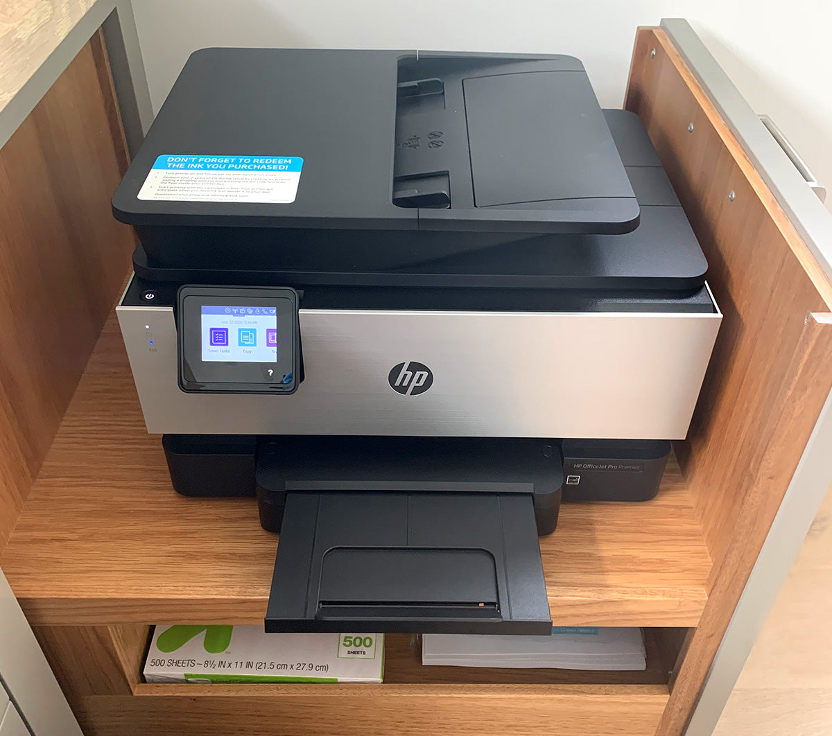 Powered Printer Drawer with outlet