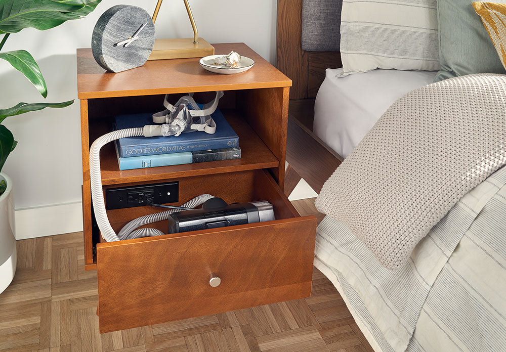 inspirational docking drawer cpap storage outlet